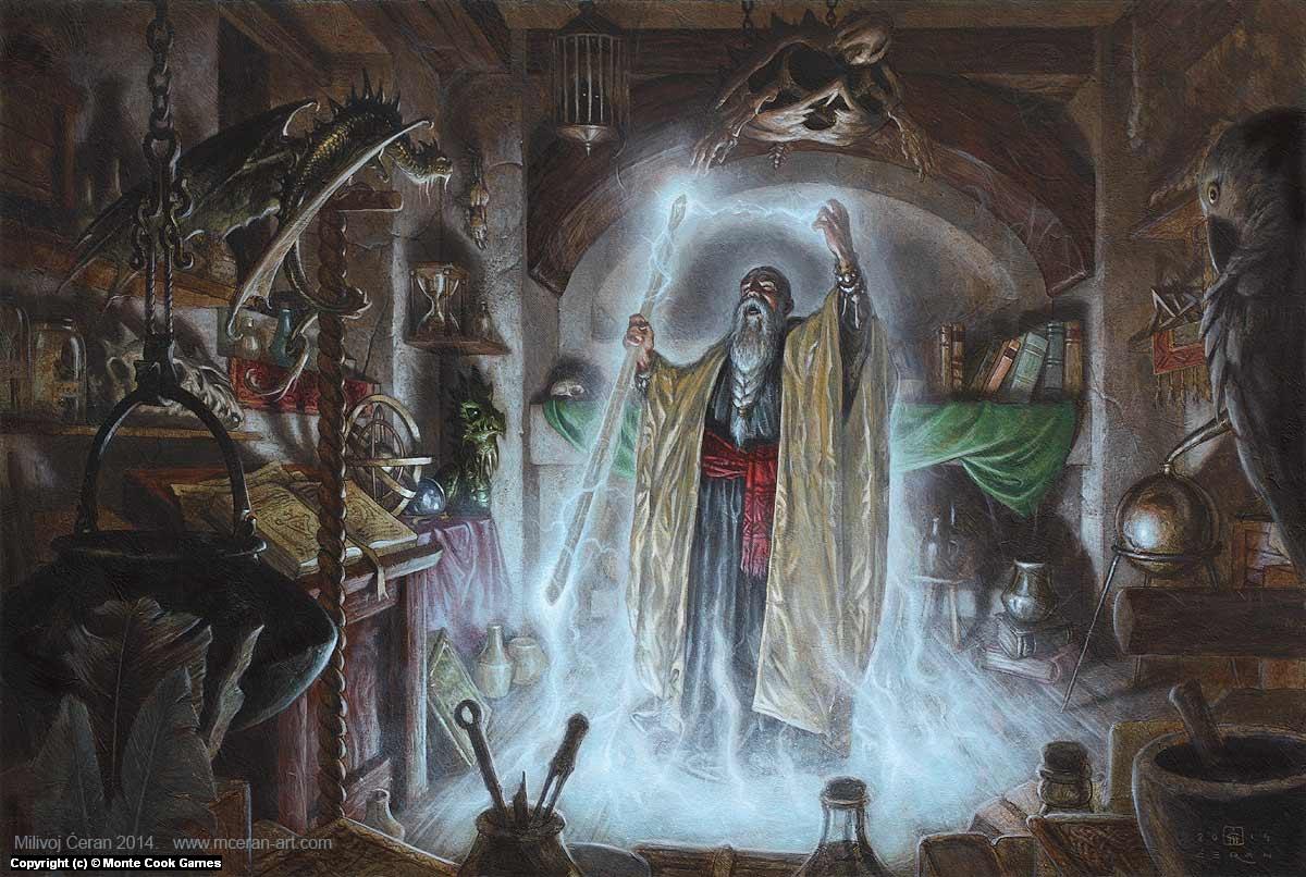 Wizard Artwork by Milivoj Ceran