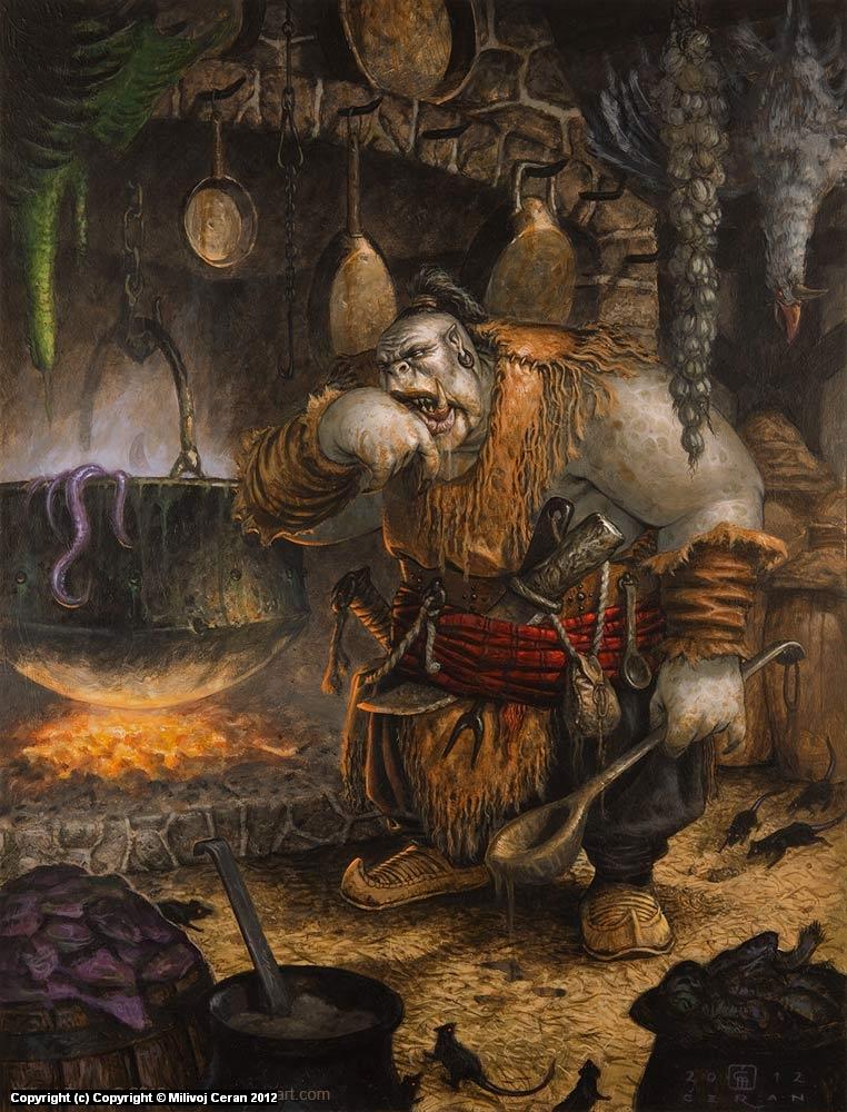 Orc Cook Artwork by Milivoj Ceran
