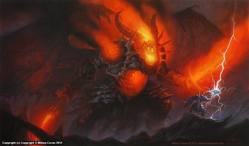 Demon Lord Artwork by Milivoj Ceran