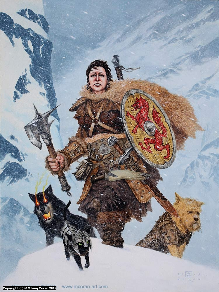 Snow Warrior, private commission Artwork by Milivoj Ceran