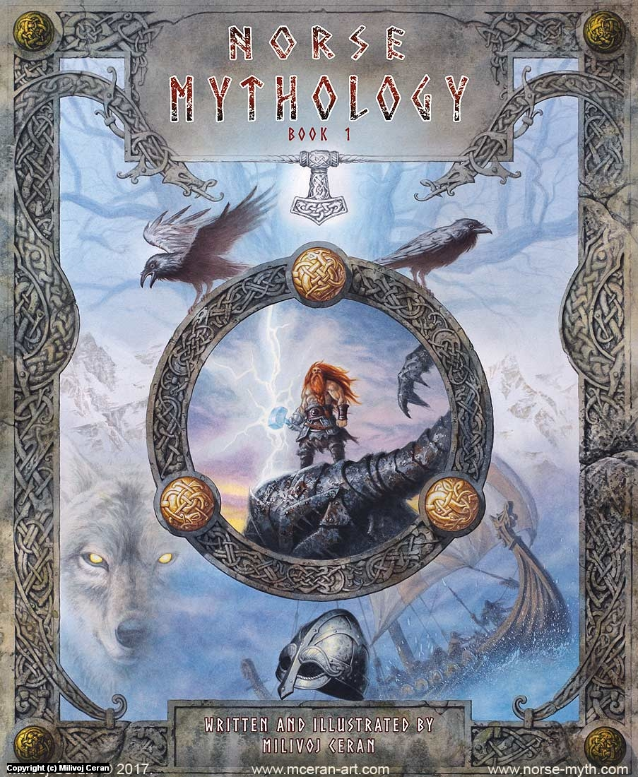Norse Mythology art book cover Artwork by Milivoj Ceran
