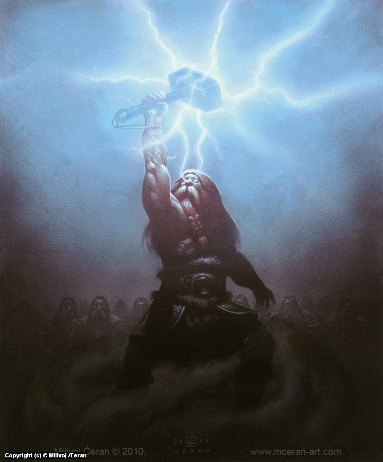 Thor gets Mjollnir Artwork by Milivoj Ceran