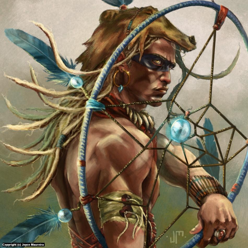 Human Druid Artwork by Joyce Maureira Zamorano