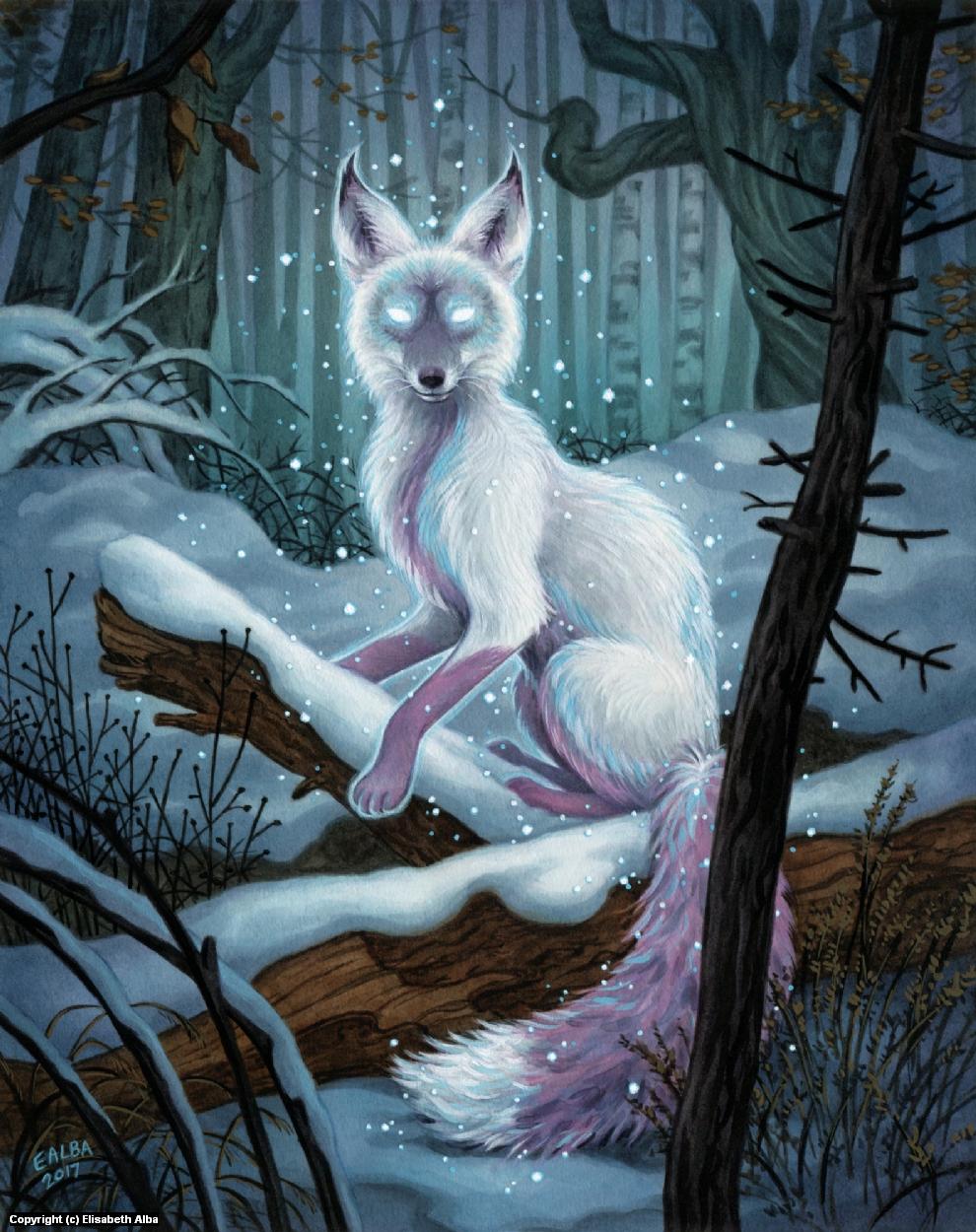 Winter Spirit Artwork by Elisabeth Alba