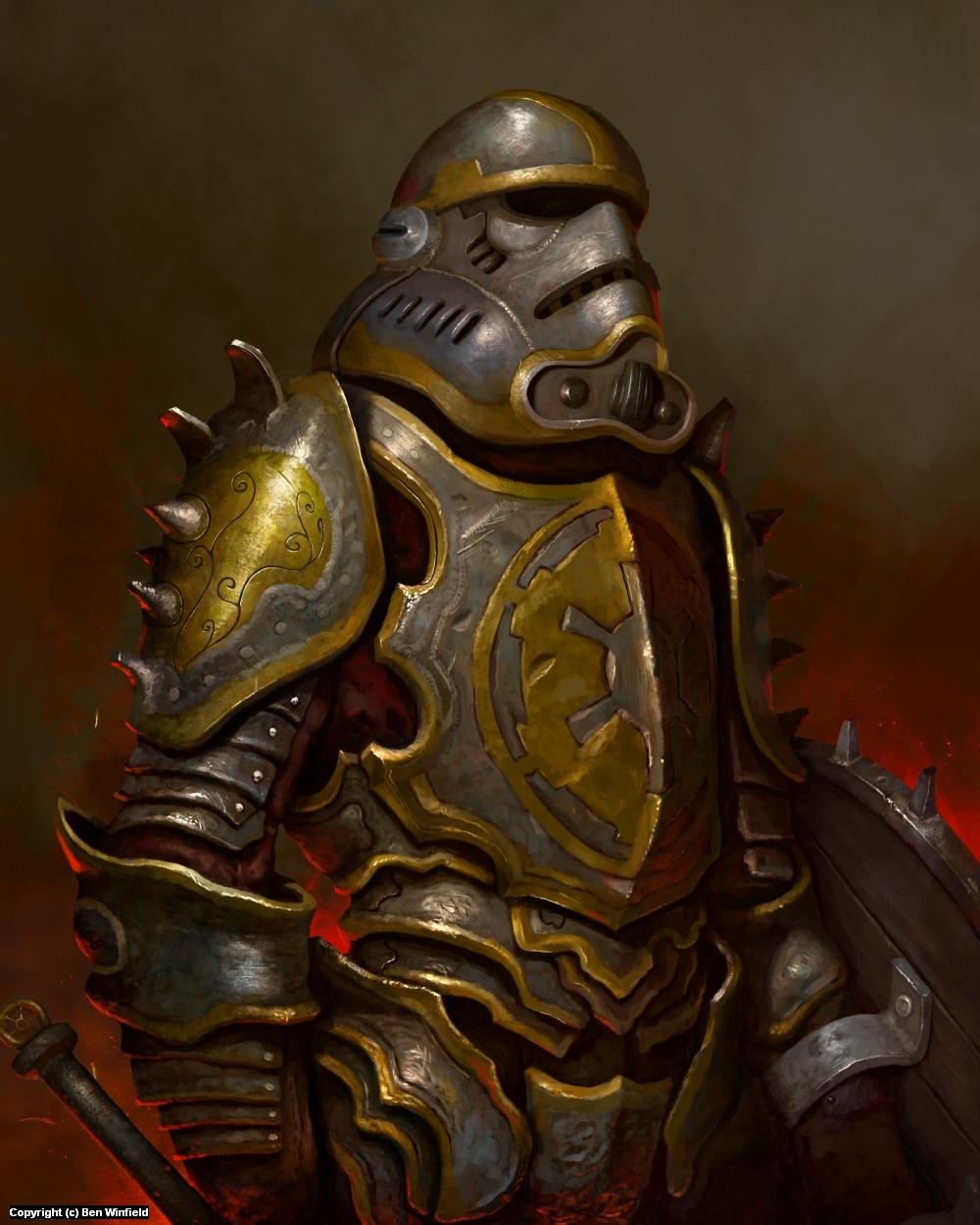 Medieval Stormtrooper Artwork by Ben Winfield