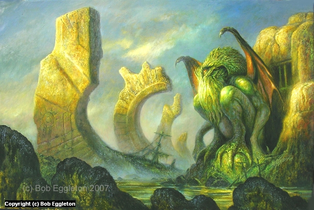 Cthulhu's Domain Artwork by Bob Eggleton