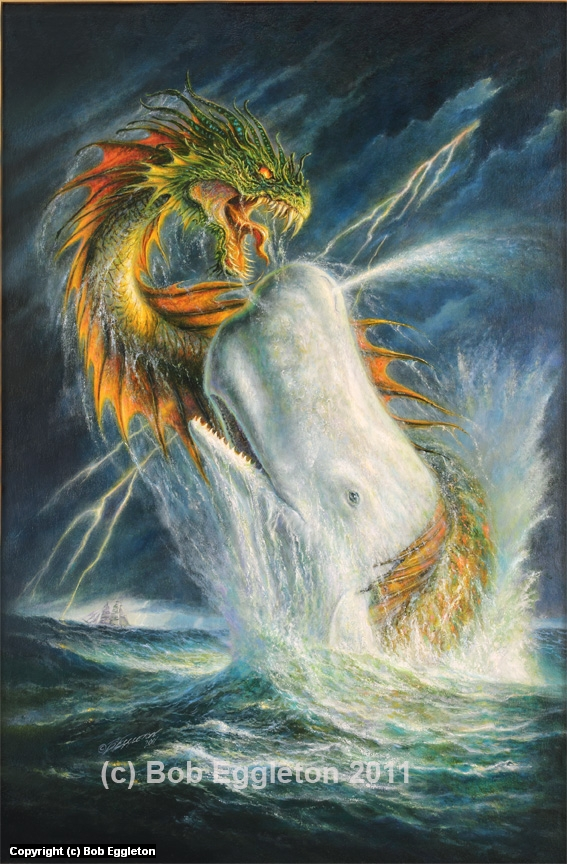 Moby Dick and The Sea Monster Artwork by Bob Eggleton