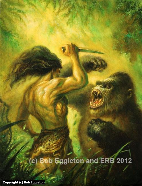 Tarzan Fighting  Artwork by Bob Eggleton