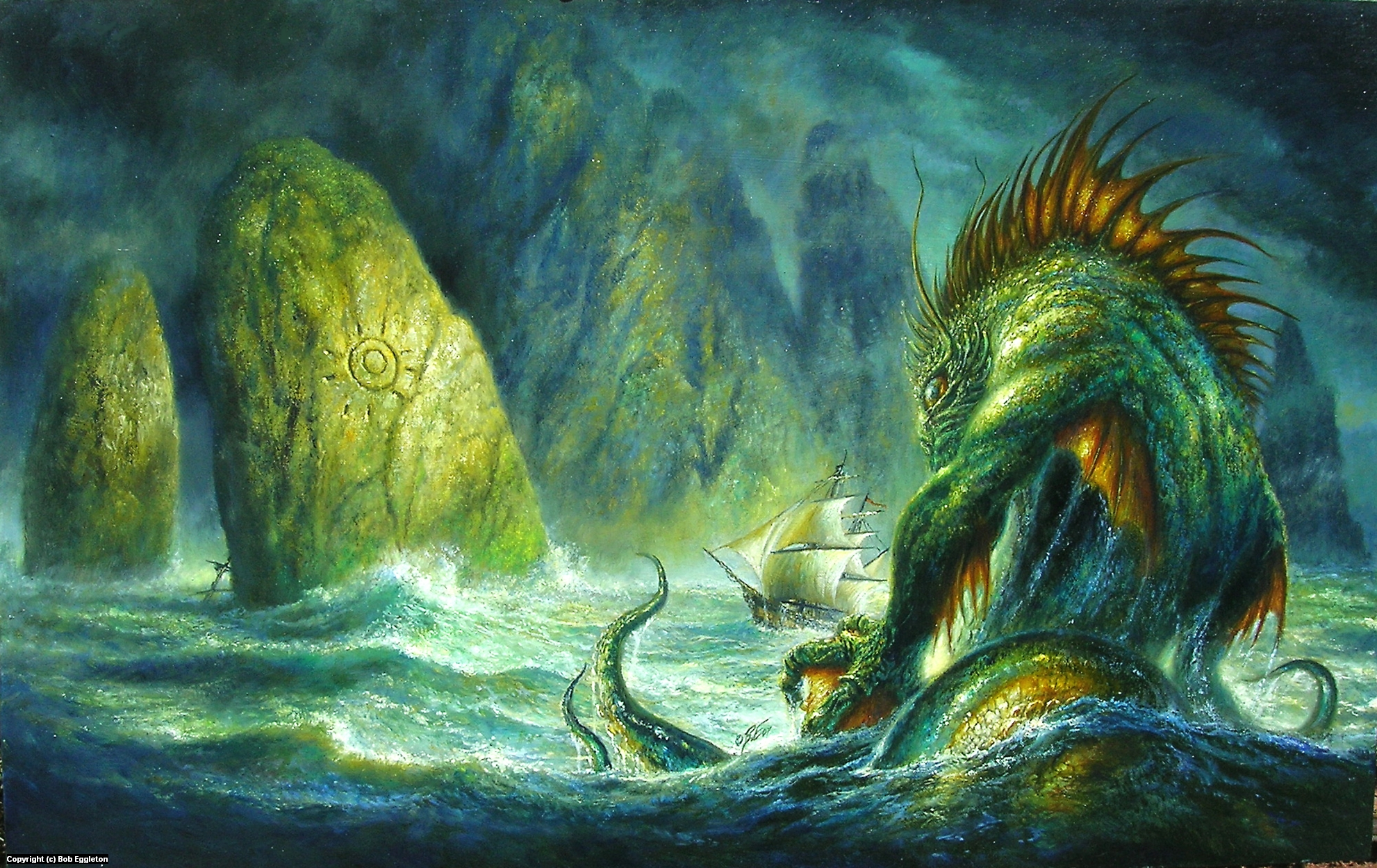 Dagon  Artwork by Bob Eggleton
