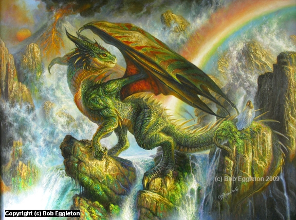 The Rainbow Dragon Artwork by Bob Eggleton