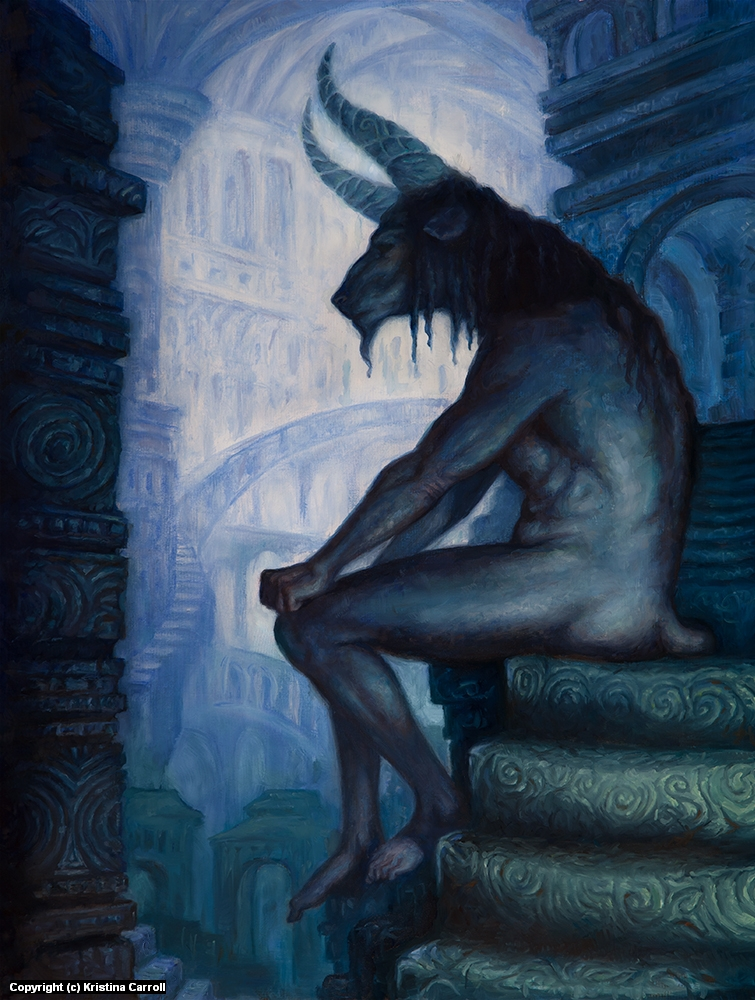 The Minotaur Artwork by Kristina Carroll