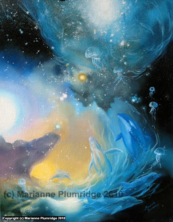BORN OF LIGHT Artwork by Marianne Plumridge