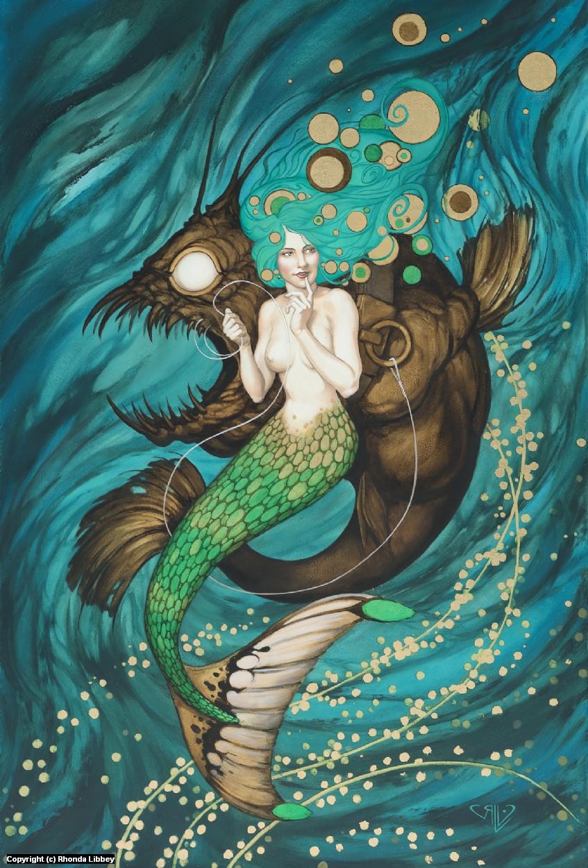 Mermaid Artwork by Rhonda Libbey