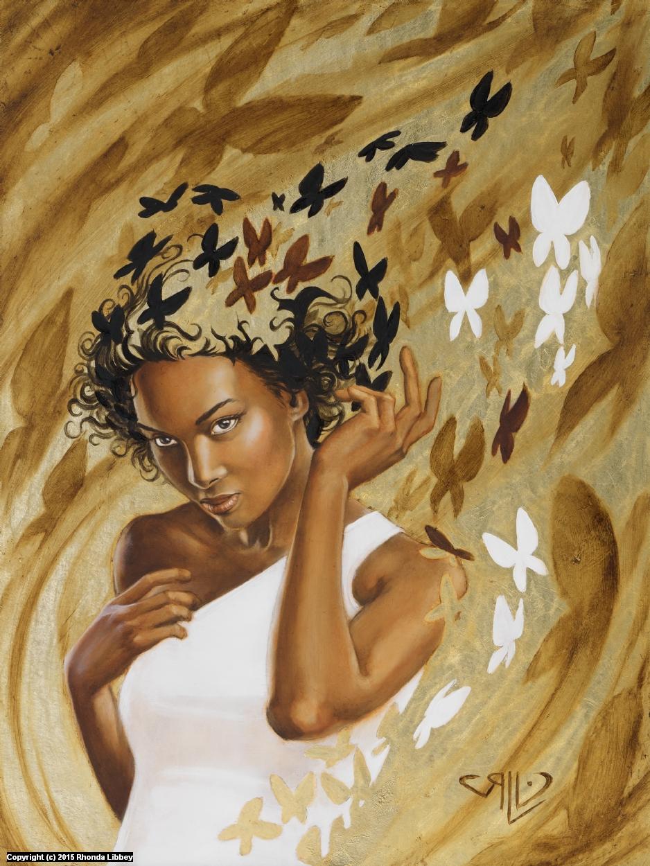 Butterfly Girl Artwork by Rhonda Libbey