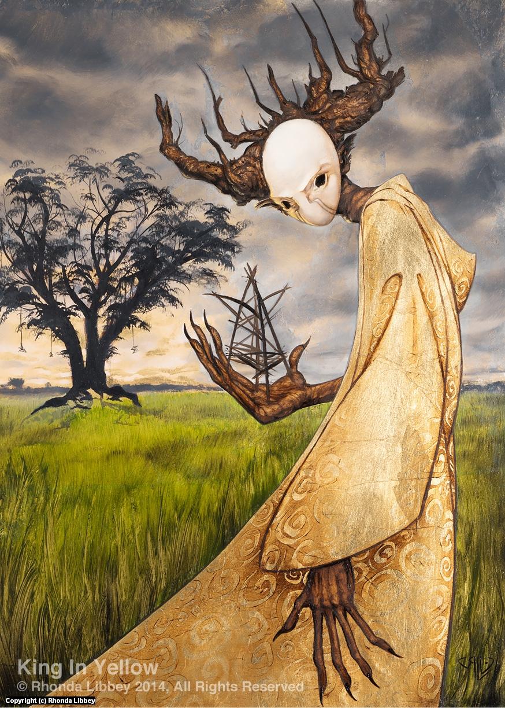King in Yellow Artwork by Rhonda Libbey
