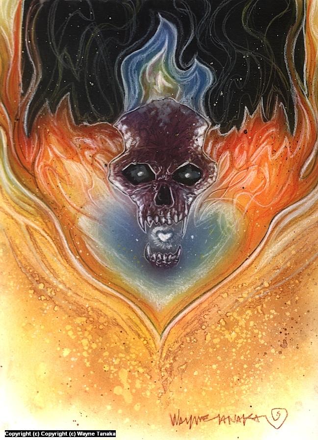 burn Artwork by Wayne Tanaka