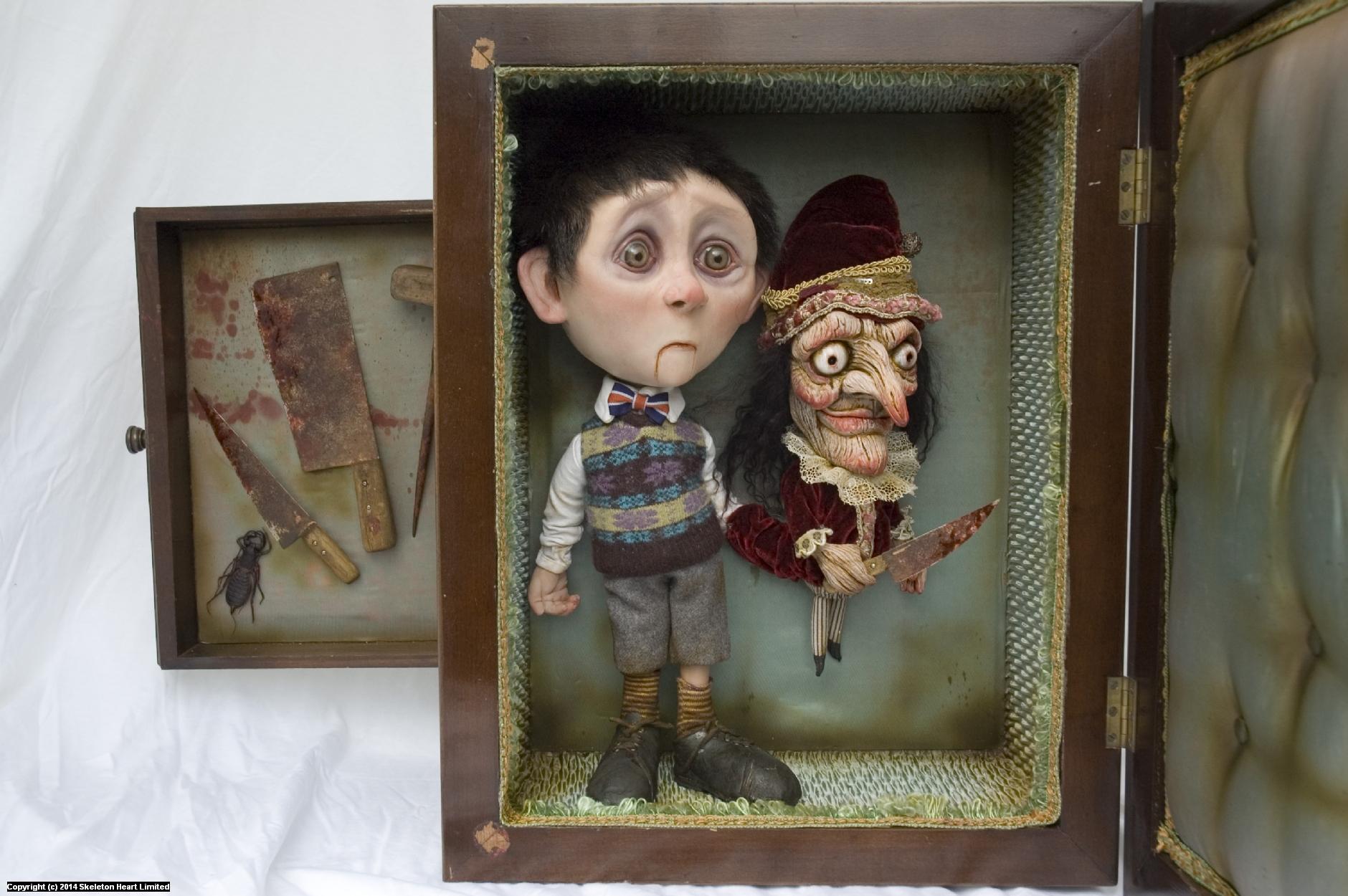 Albert Grimsbottom and his Murderous Puppet Artwork by Skeleton Heart