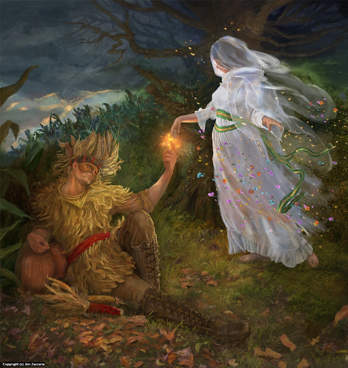 Mother Earth and the Harvest Lord Artwork by Jim Zaccaria
