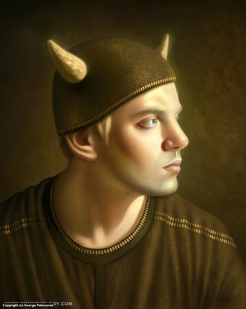 Viking Self Portrait Artwork by George Patsouras