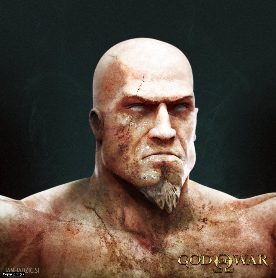 Kratos Portrait Artwork by Jan  Hadzic