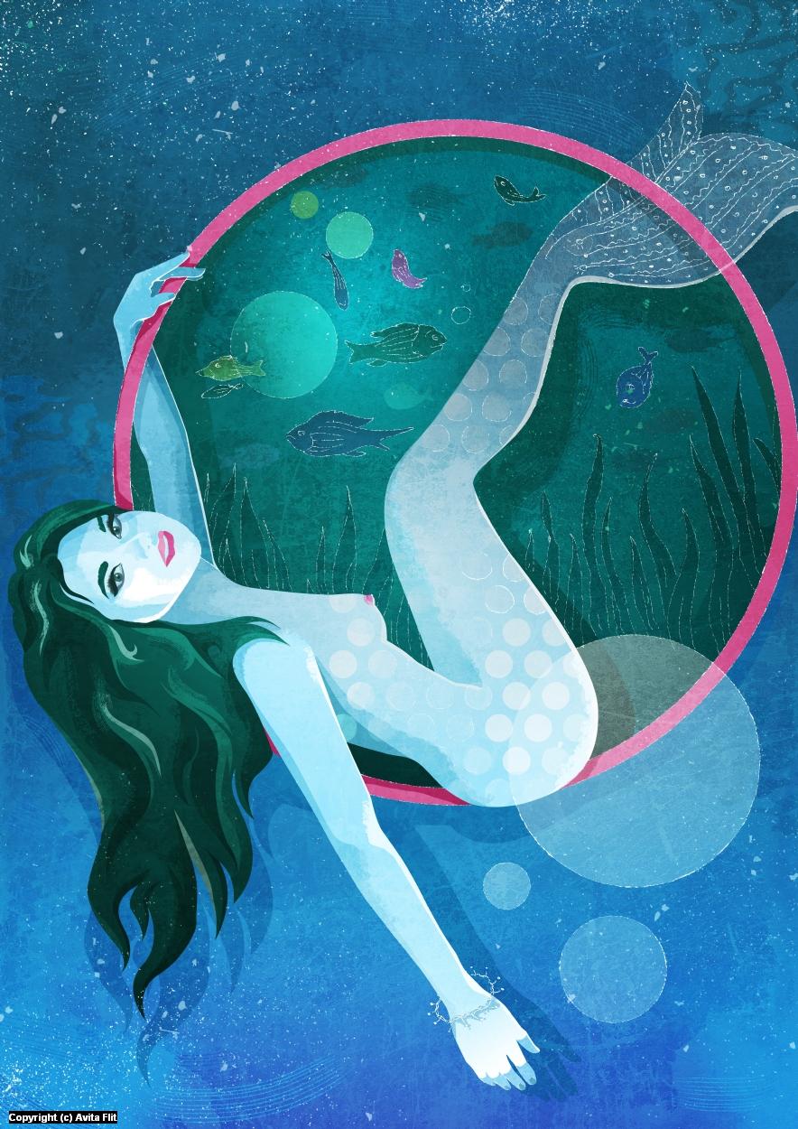 Mermaid  Artwork by Avita Flit
