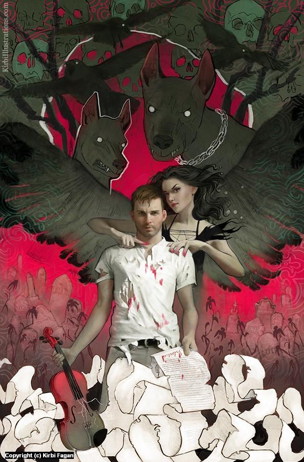 Red Angel Artwork by Kirbi Fagan