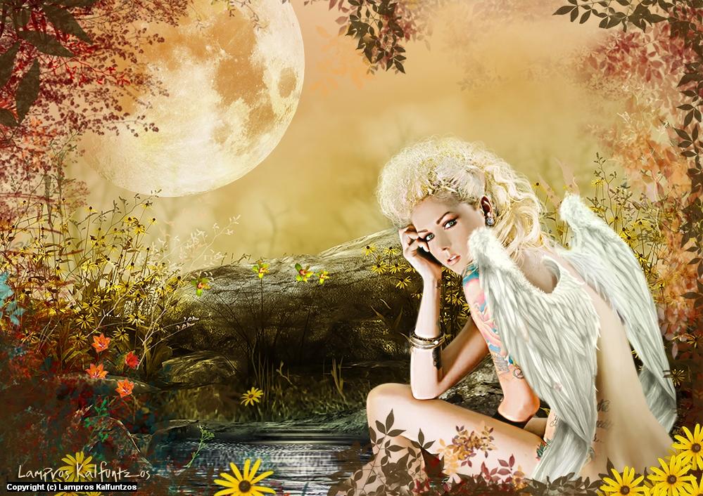 Fallen Angel Artwork by Lampros Kalfuntzos