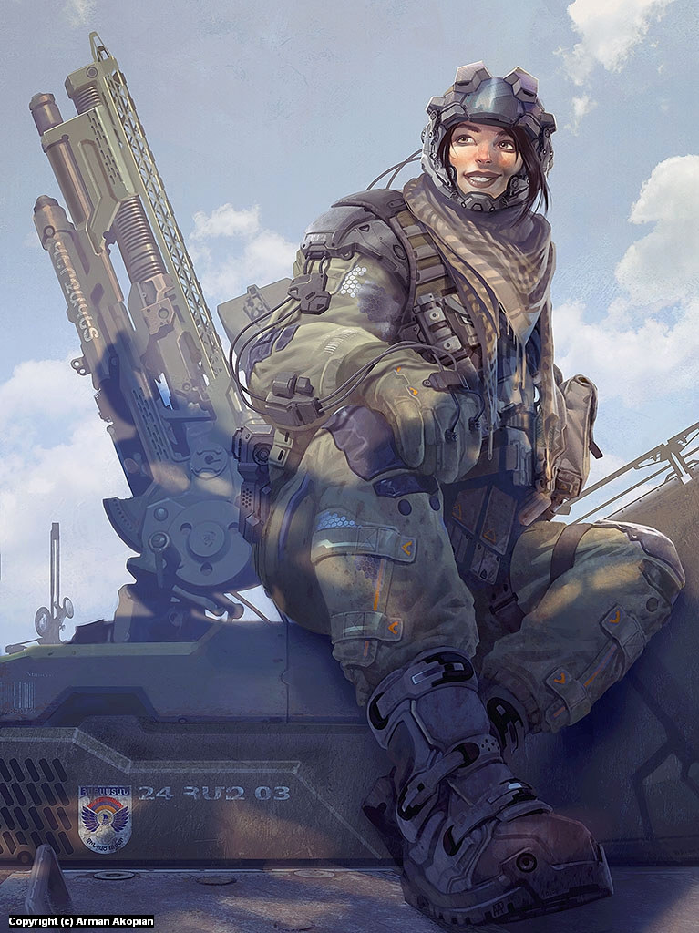 Smiling Armour 1 Artwork by Arman Akopian
