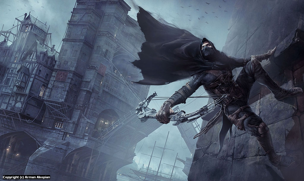 Thief - Gameinformer cover Artwork by Arman Akopian