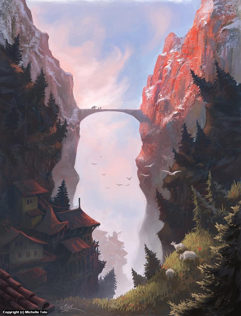 The Sky Bridge Artwork by Michelle Tolo