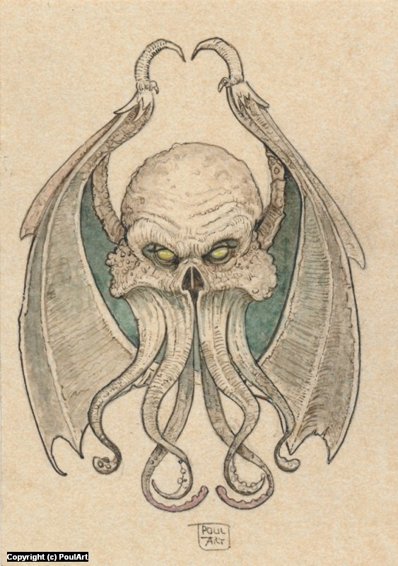 Cthulhu .... Artwork by Poul Dohle