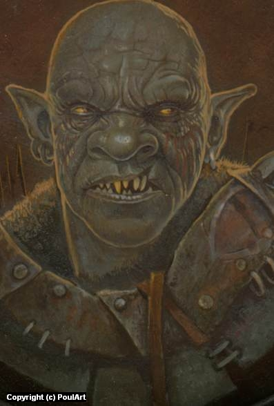 Orc Artwork by Poul Dohle