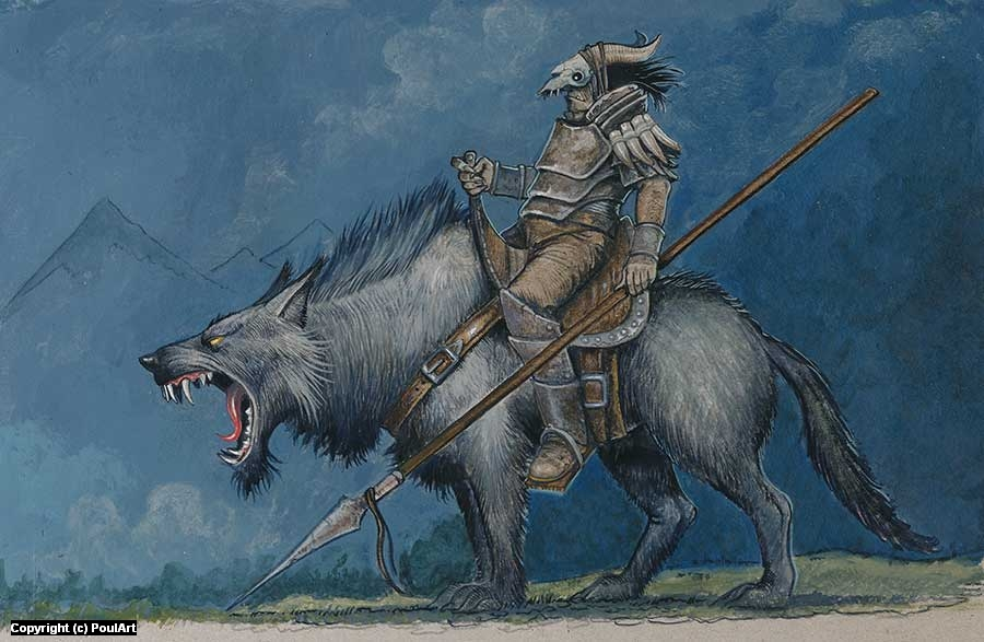 Warg Rider Artwork by Poul Dohle
