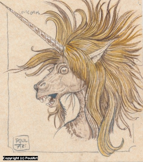 Crazy Unicorn Artwork by Poul Dohle