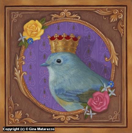 Queen Birdy  Artwork by Gina Matarazzo
