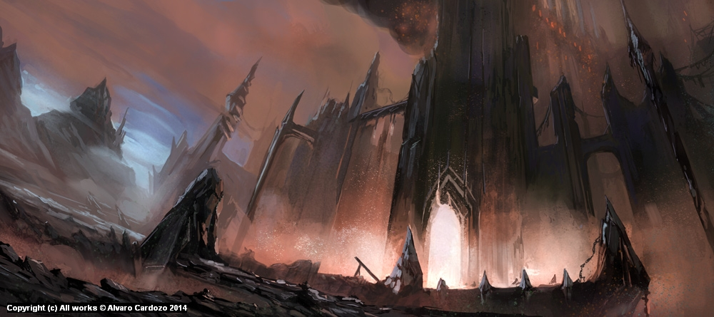 Castle of the lost souls Artwork by Alvaro Cardozo