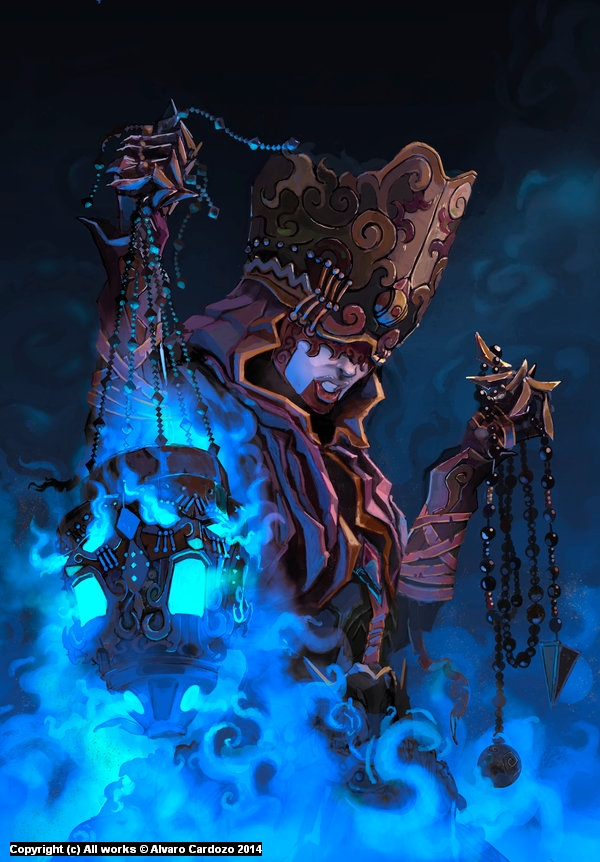 Witch Master of sorcery Artwork by Alvaro Cardozo