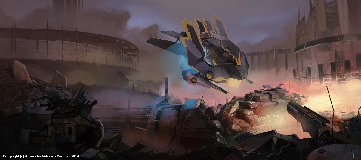 Gio Wars_ wasteland Artwork by Alvaro Cardozo