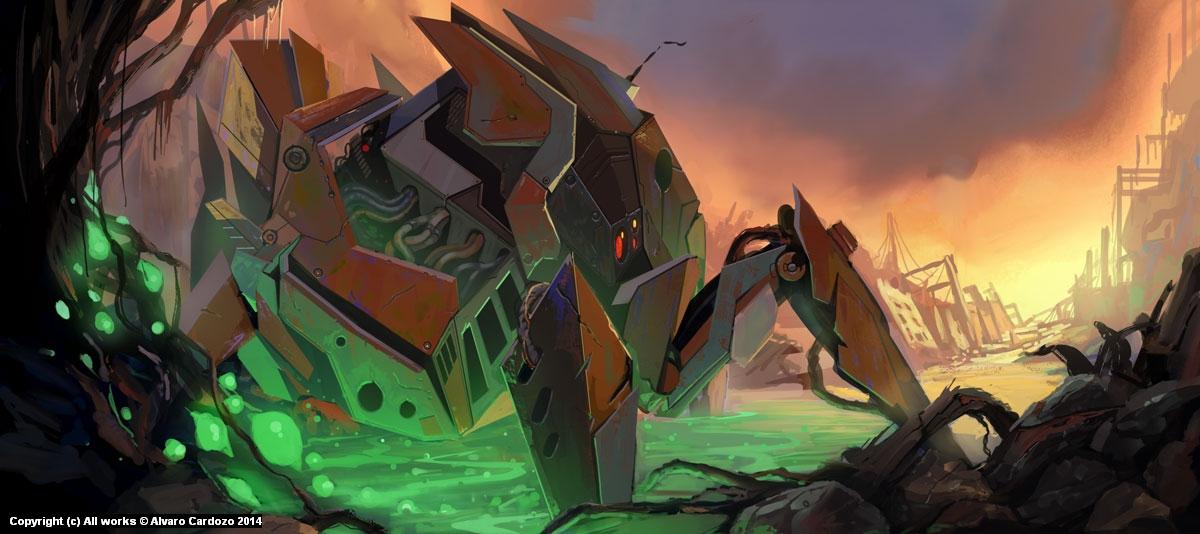 Gio Wars_ the explorer Artwork by Alvaro Cardozo