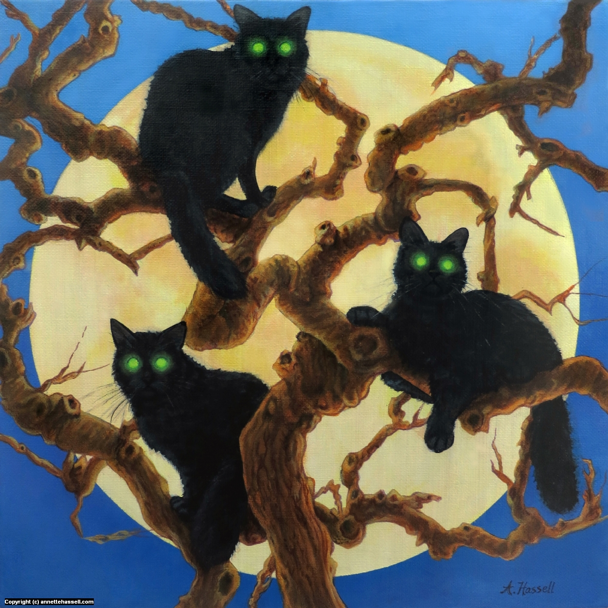 Cat's Tree Artwork by Annette Hassell