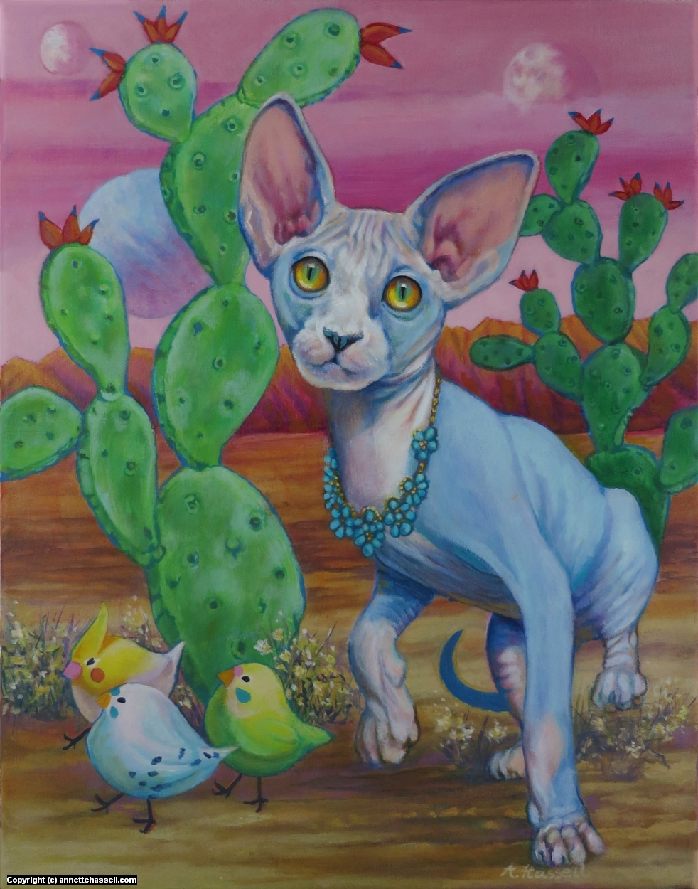 Kitty Kitty Artwork by Annette Hassell