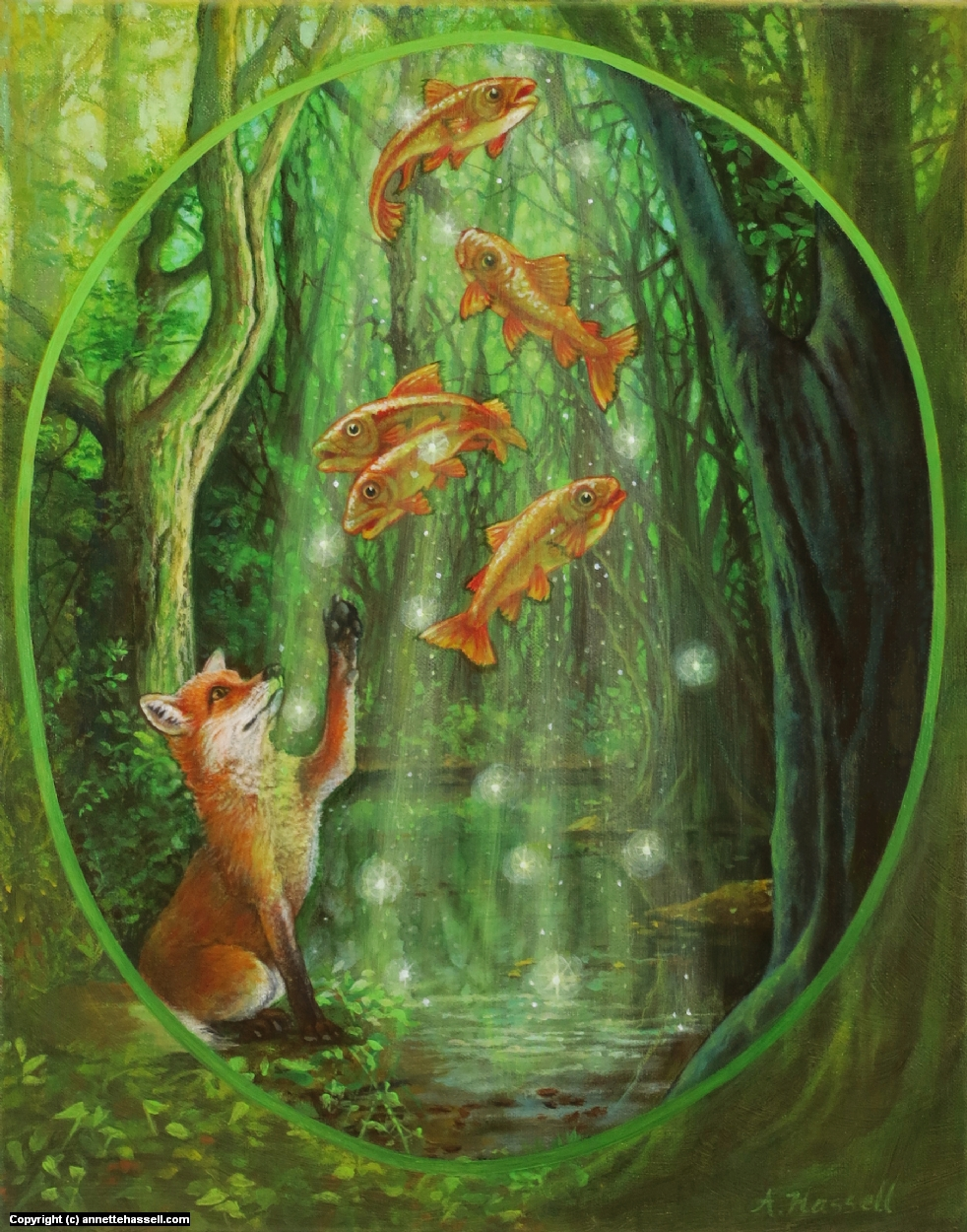 Forest Waters Artwork by Annette Hassell