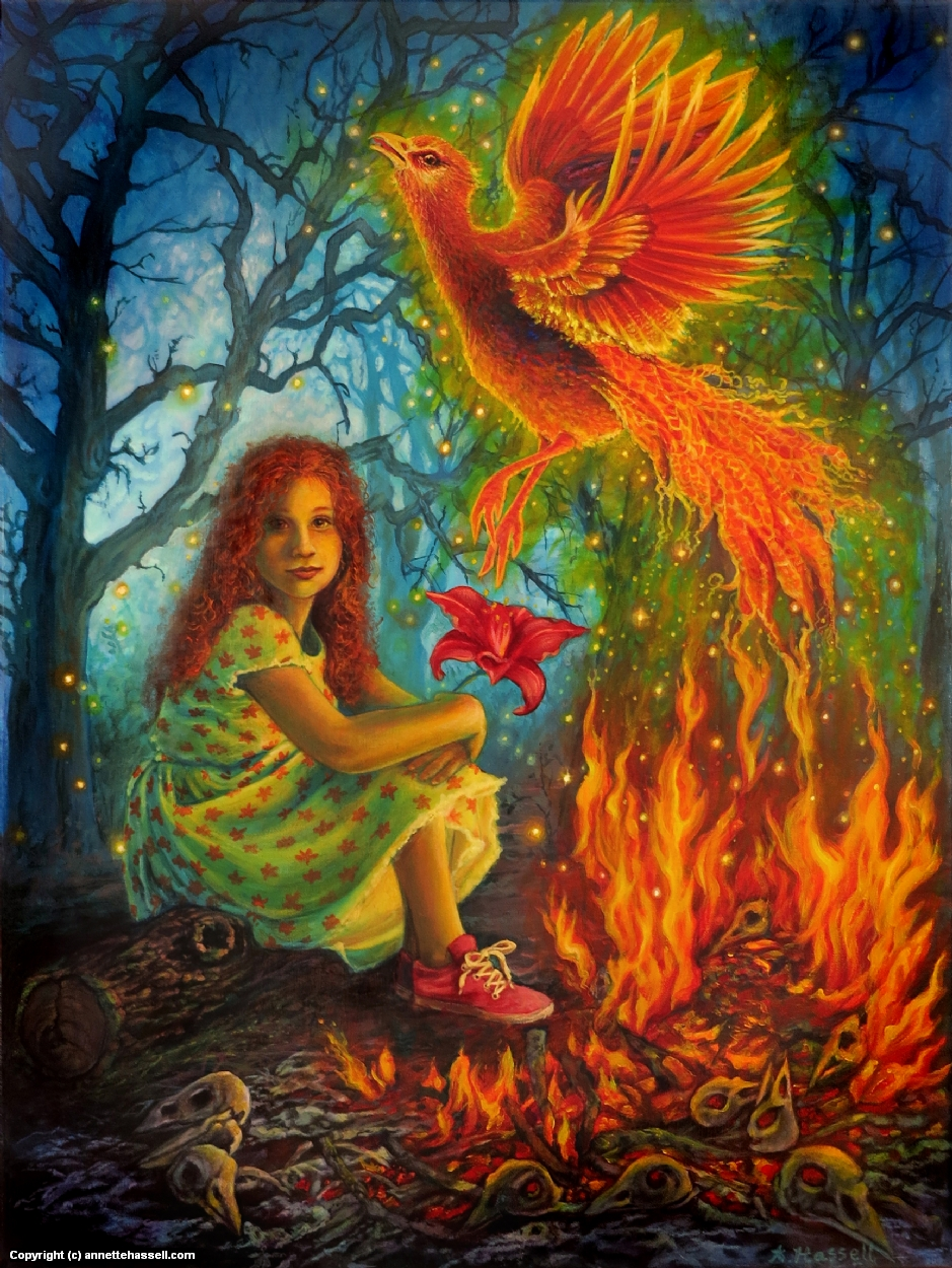Fire Child Artwork by Annette Hassell