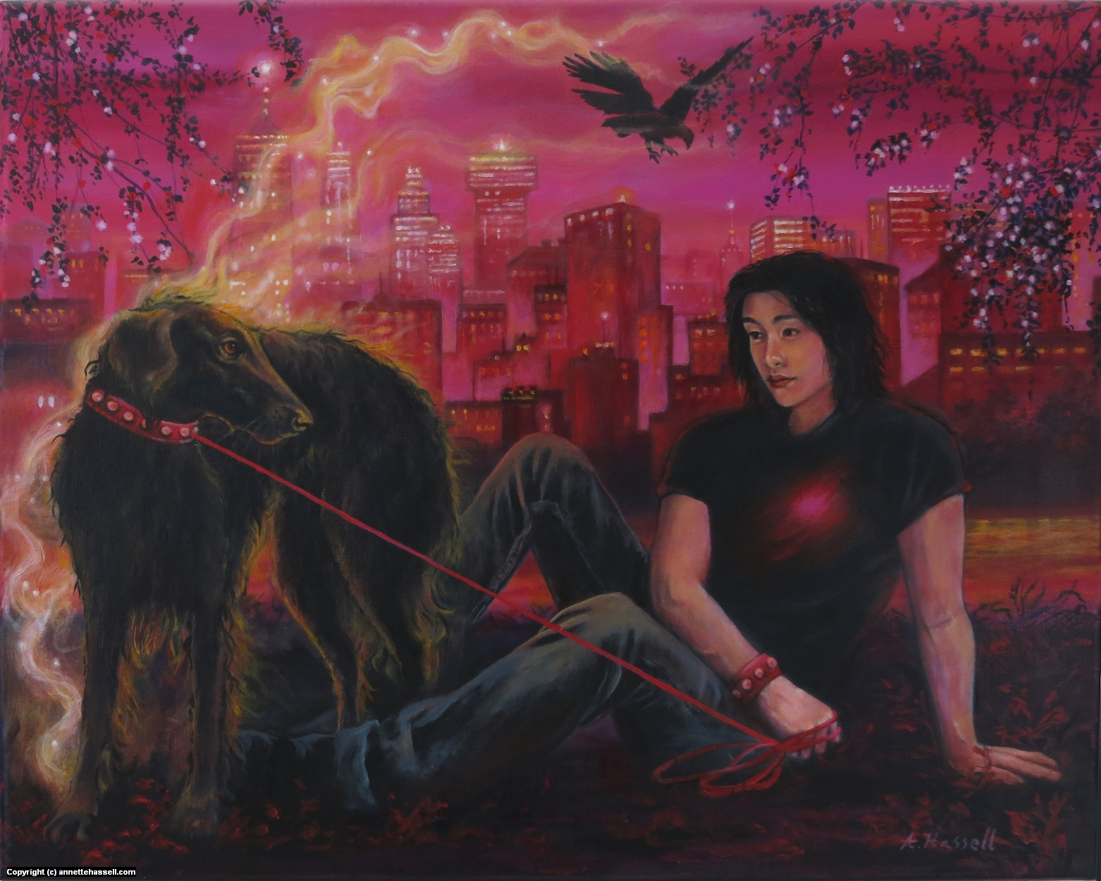 Smoky Artwork by Annette Hassell