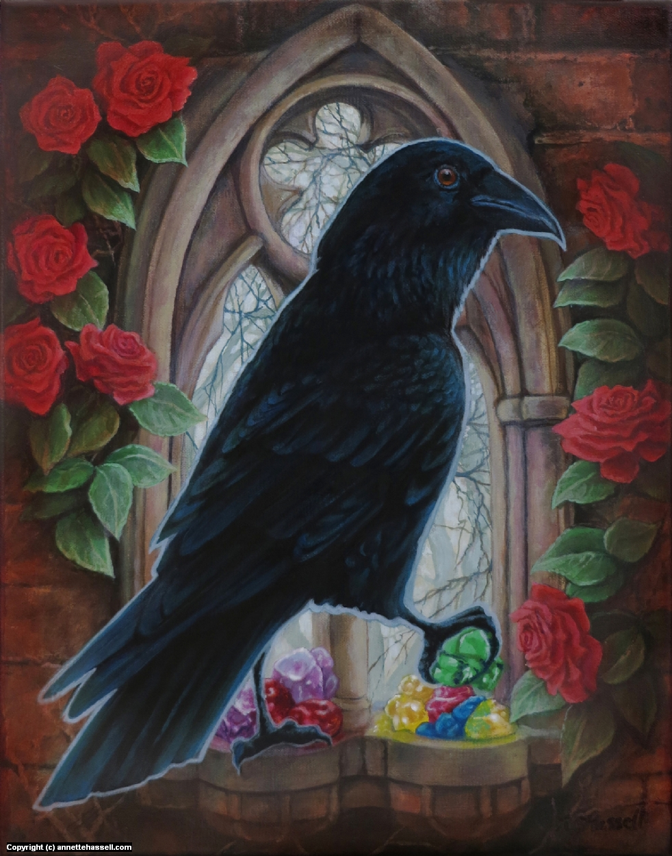 Raven's Stones Artwork by Annette Hassell
