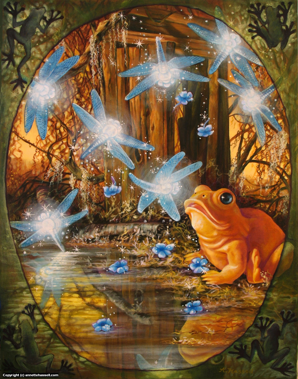 A Frog Enchanted Artwork by Annette Hassell