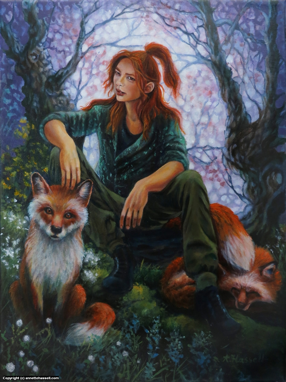 Nine Tailed Artwork by Annette Hassell
