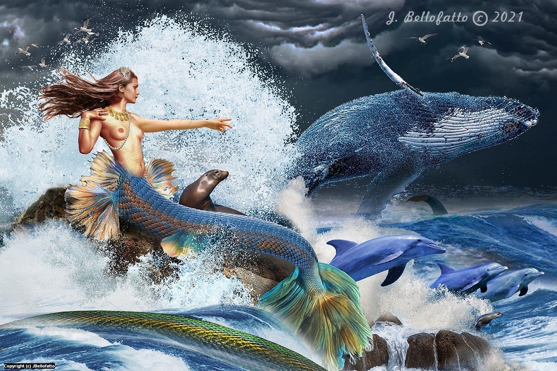 Neptune's Daughter Artwork by Joseph Bellofatto