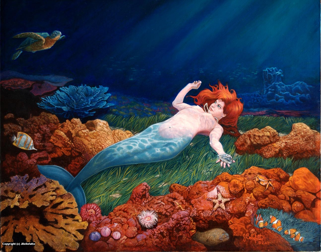 Pearl Diver Artwork by Joseph Bellofatto