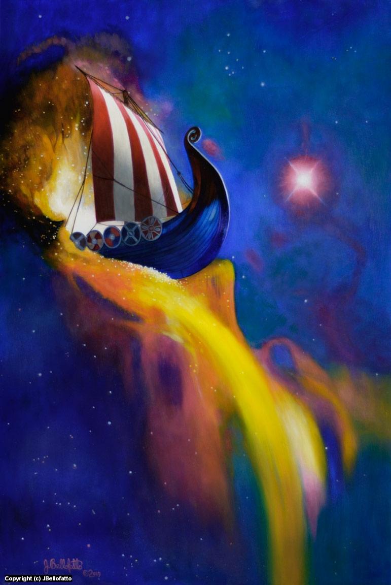 The Waterfall Nebula Artwork by Joseph Bellofatto